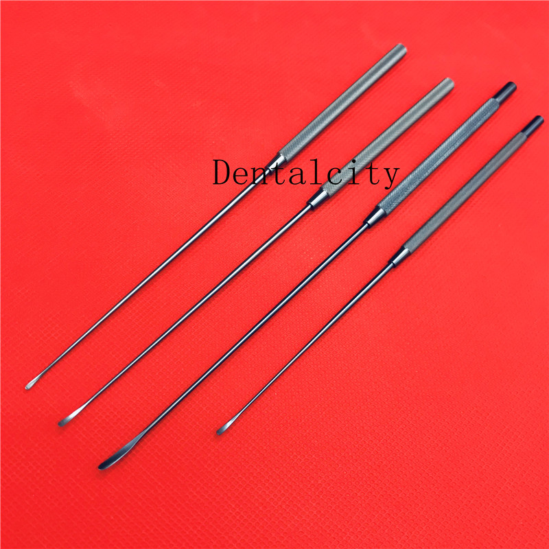 4pcs/set Titanium surgical instruments Yasargil Micro Raspatory Slightly Curved tips tools