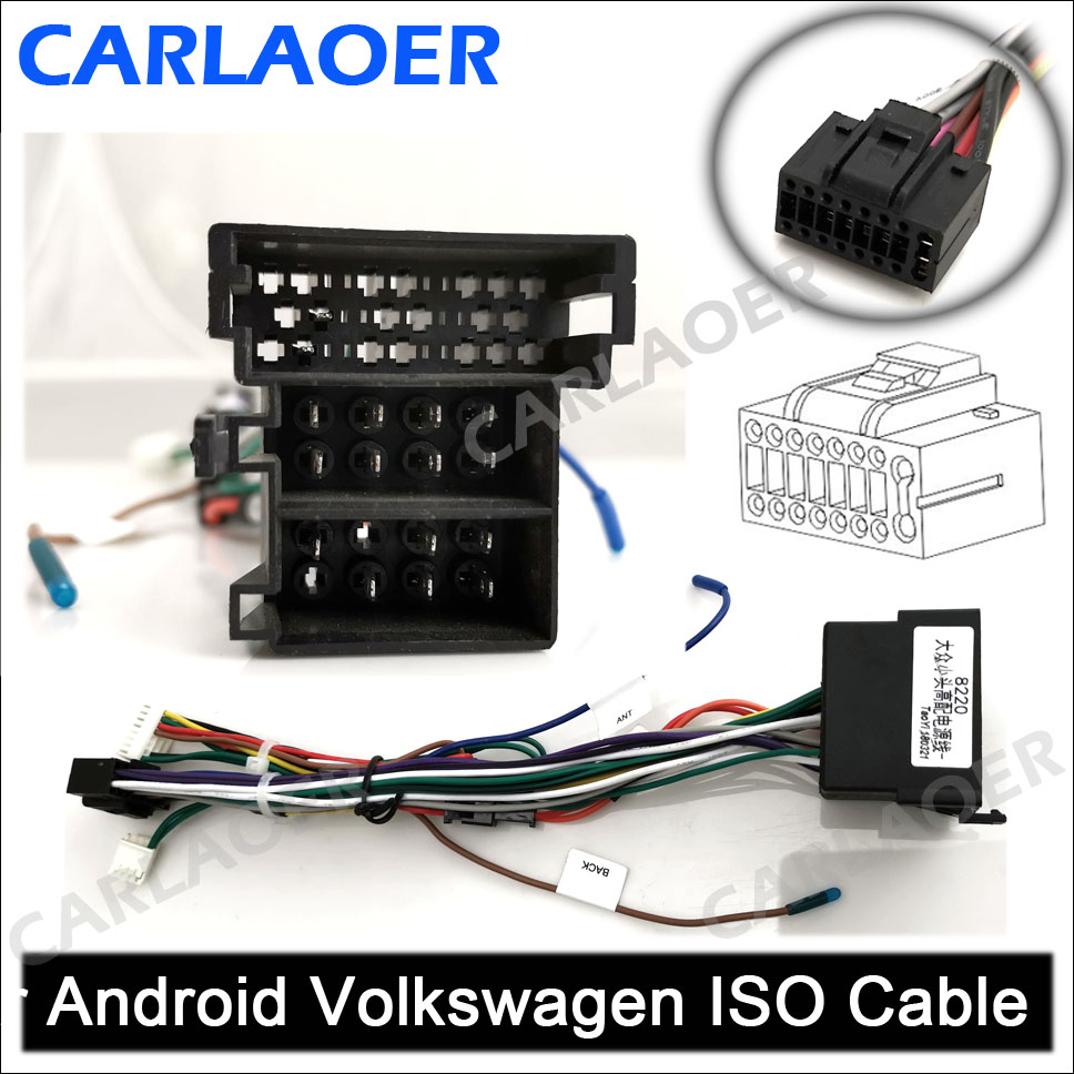 Car Android Volkswagen ISO Cable