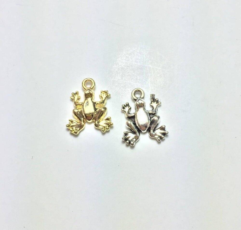 Ohrring Armband Schmuck Diy Handgemachte 2 Farben Modernes Design Anhänger Herzhaft Eruifa 20 Stücke 14mm Ziemlich Frosch Charme Zink-legierung Halskette