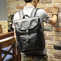 Xiao. p Marca Estilo Preppy Mochila De Couro PU Mochila Para A Faculdade de Design Simples Men Casual Daypacks mochila masculino nova