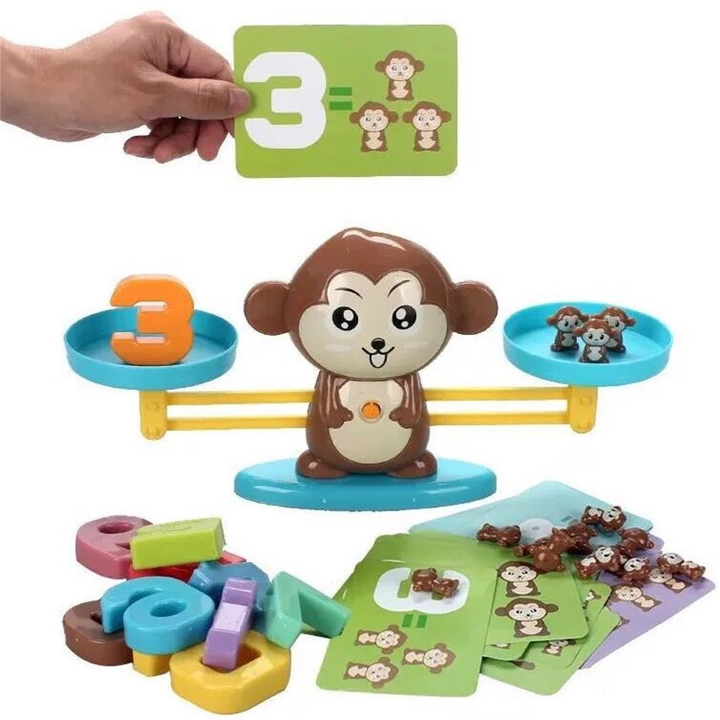Enlightenment Number Addition Subtraction Math Balance Scales Board Games Animal Figure Learn Education Baby Preschool Math Toys