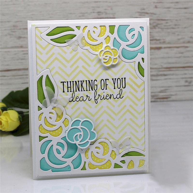 YaMinSanNiO Flower Dies Cutting Dies Scrapbooking Rose Die Cut for Card Making Paper Embossing Crafts Dies New 2019 Arrival in Cutting Dies from Home Garden
