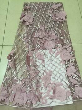 2018 Fashionable Designs High Quality African Flowers Lace Fabric African 3D French Lace Fabric