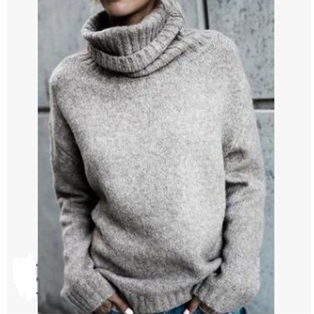 a35dc42c1 Winter Christmas Pullover Amazon Wool Sweater Womens Turtleneck ...