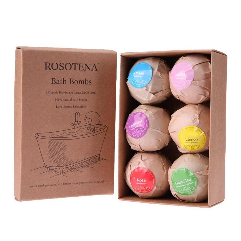 Detail Feedback Questions about 6 pcs Natural Bath Bombs Bubble Bath ... 1b9144f61b38