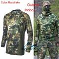 Táticas de Camuflagem Roupas de Caça militar Kryptek softs Ar portas T-shirt Terno Sniper Paintball Wargame Tático Engrenagem