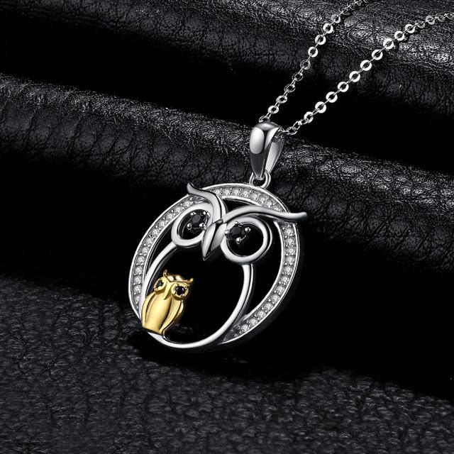 Wisdom Owl Spinel Pendant