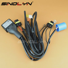 12V 35W 9004 9007 HID Xenon Relay Harness For Bixenon Bulbs High Low Beam Control Wiring Controller Hi/Lo Wire+Fuse Car Styling