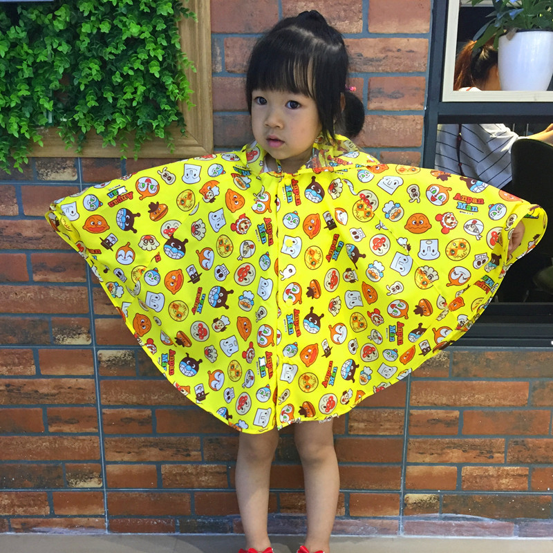 Child Baby Raincoat Rainwear Cartoon Bread Superman Rain Gear Waterproof Rain Cape For Kindergarten Students New Cloak Rainwear