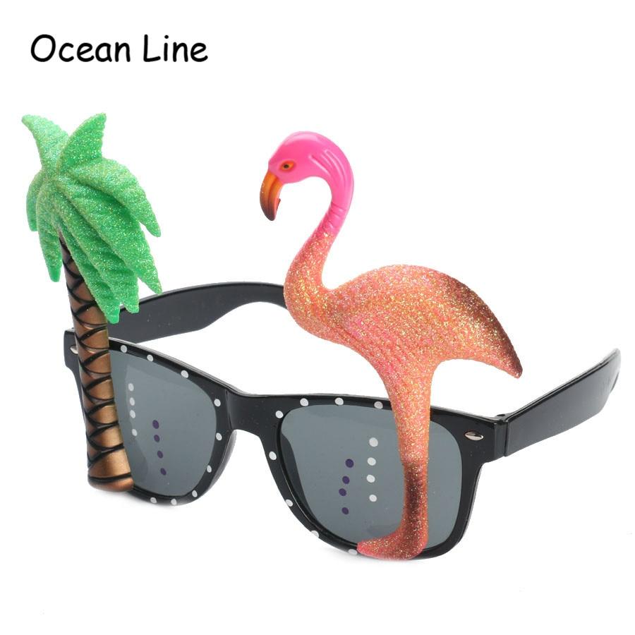 Komik Dekoratif Flamingo Plaj Partisi Miami Stil Kostümleri Güneş - Tatiller ve Partiler Için - Fotoğraf 4