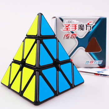 SHENGSHOU Puzzle 3X3X3 Pyramid Cube Legend Pyramid Professional Magic Speed Cube Educational  Christmas Toys For Kids shengshou cube 2 x 2 x 2 mini cube black base fun educational toy