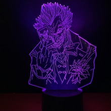 Cool Child Led Nightlight Marvel Supervillain The Joker Night light for Boys Bedroom Decor Lamp Kids Birthday Gift