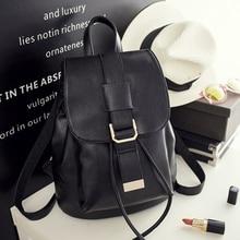2017 Повседневное Для женщин рюкзак женский из искусственной кожи Рюкзаки черный рюкзак Сумки для подростка Обувь для девочек молодой леди туристические рюкзаки