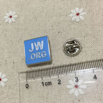 50pcs Factory Wholesale Customized Blue Jw.org Religious Lapel Pin Badges Enamel Brooch Metal Craft Pins Soviet Badge Gifts