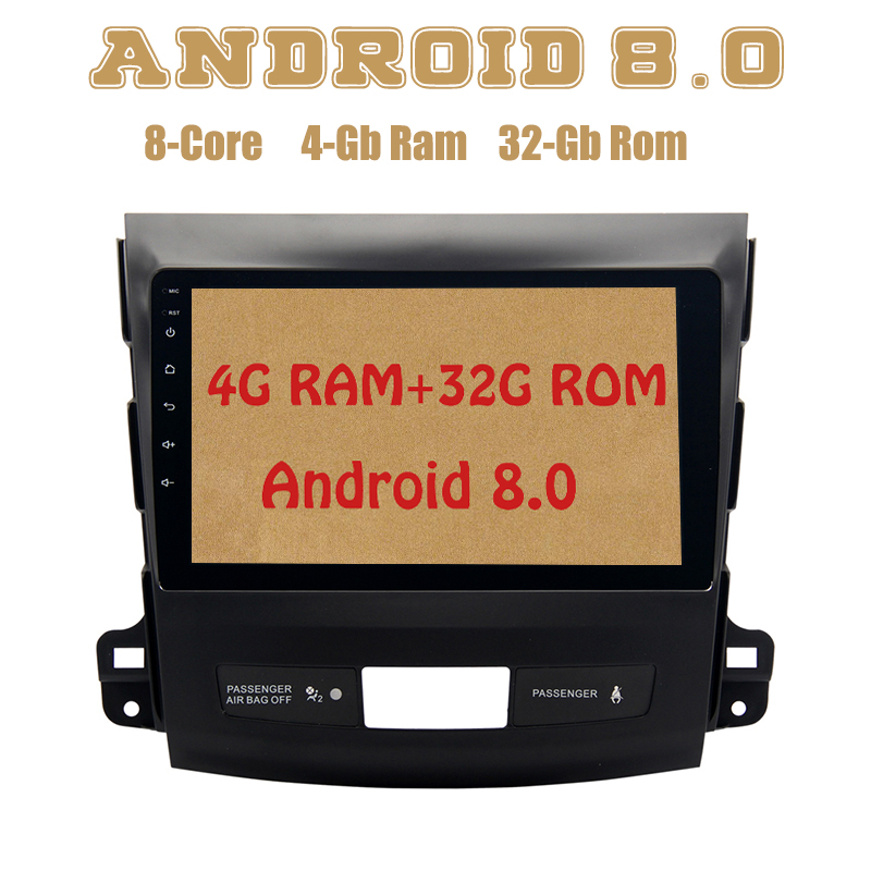 Octa core PX5 Android 8.0 car radio gps for mitsubishi outlander 2007-2012 with 4G RAM 32G ROM wifi 4g usb Auto Stereo Multimed все цены