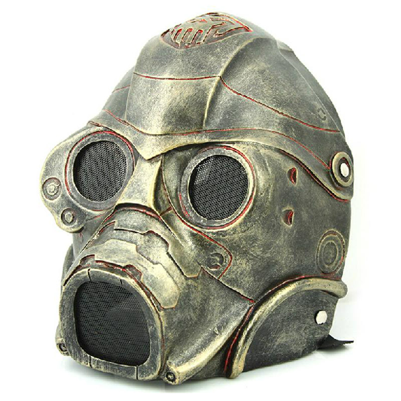Free Shipping Halloween Cosplay Biohazard Resident Evil Mask Resin Outdoor Protection Paintball CS Game Army of Two Airsoft Mask