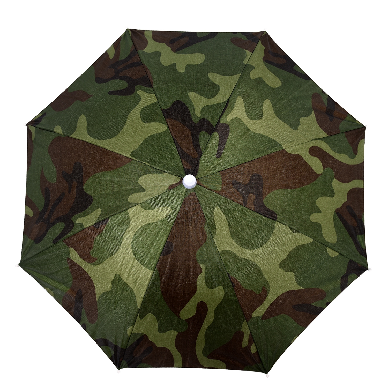 Wholesale! Elastic Headband Camouflage Pattern Sun Rain Umbrella Hat Cap for Fishing