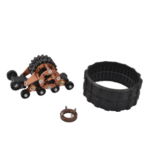Image 4 - 4PCS 1/10 RC Aluminum Alloy Tracks Wheel Sandmobile Conversion Snow Tire for SCX10 Axial Scale Axle and Trail Crawler