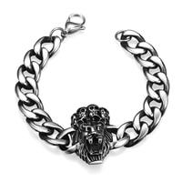 Punk Rock Men S Skeleton Skull Stainless Steel Bracelets Party Accessories Casual Sport Wristband Bangle Fine