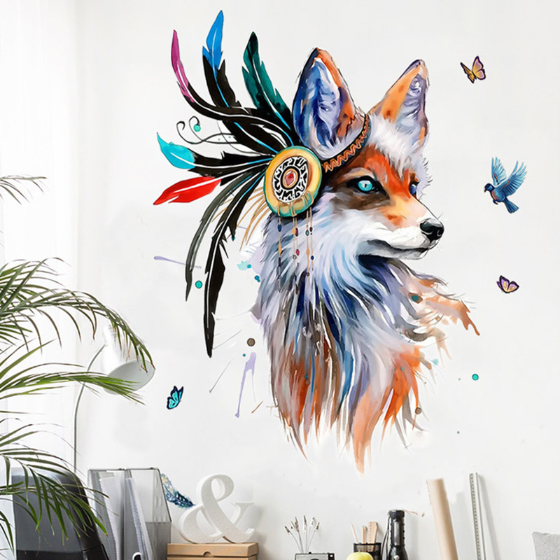 Boho Style Fox Removable Wall Sticker 9