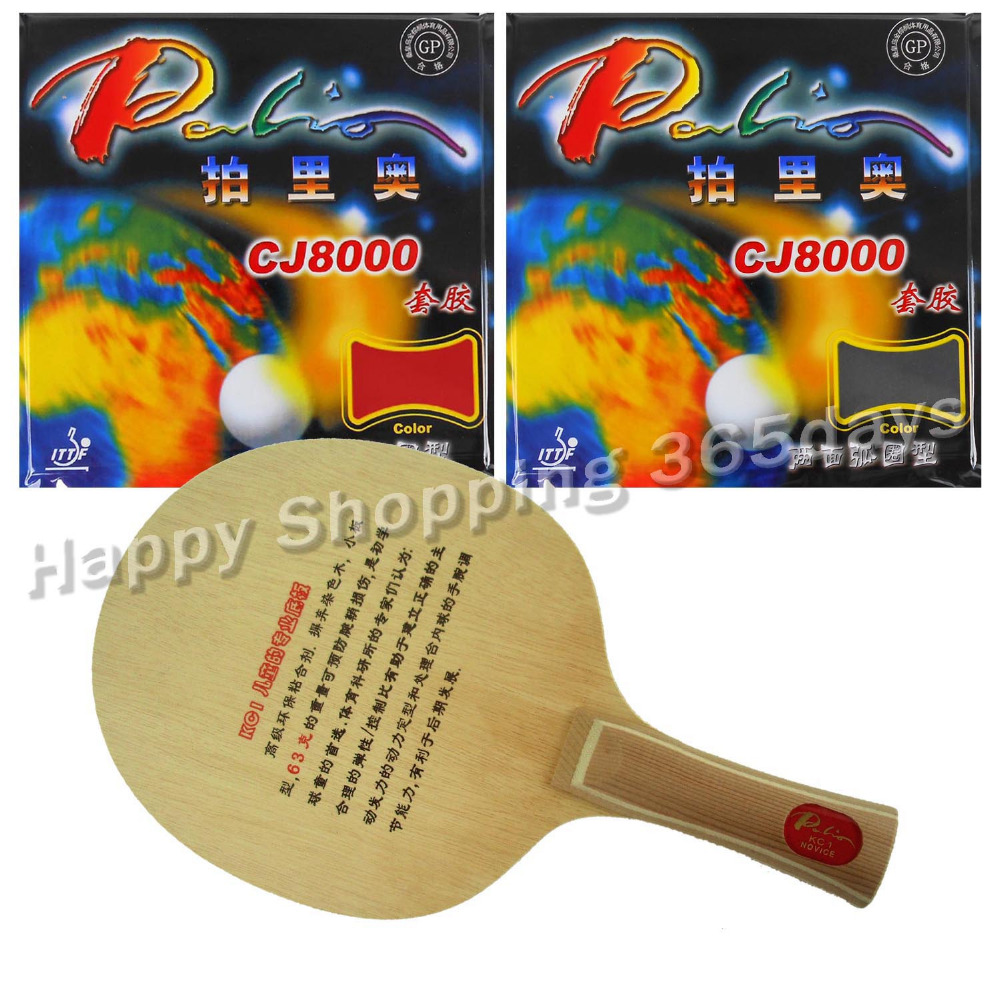 Original Pro Table Tennis Combo Racket Palio KC1 for children Blade with 2x CJ8000 2 Side Loop Type Rubbers Long shakehand FL dhs power g7 pg7 pg 7 long shakehand fl with 2 pieces palio cj8000 2 side loop type 2015 the new listing