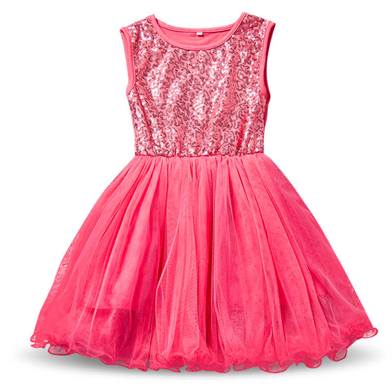 Princess Sparkle Sequins Dress Baby Kids Girls Events ...