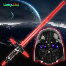 Ajándék Luminescent Zene Teleszkópos Star Wars Lézer Kard Lightsaber Cosplay Köpeny Maszk Gyermek Villog a legjobb gyermek játékok