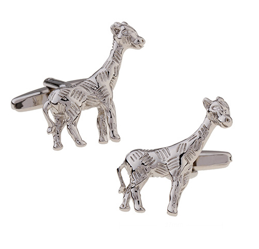 IGame New Arrival Men's Cuff Links Giraffe Design Brass Material