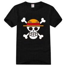цены на Men Women Casual T Shirt Fashion Anime One Piece Luffy Skull TShirt Cotton Print High Quality Cosplay Short Sleeve Tops Tees в интернет-магазинах