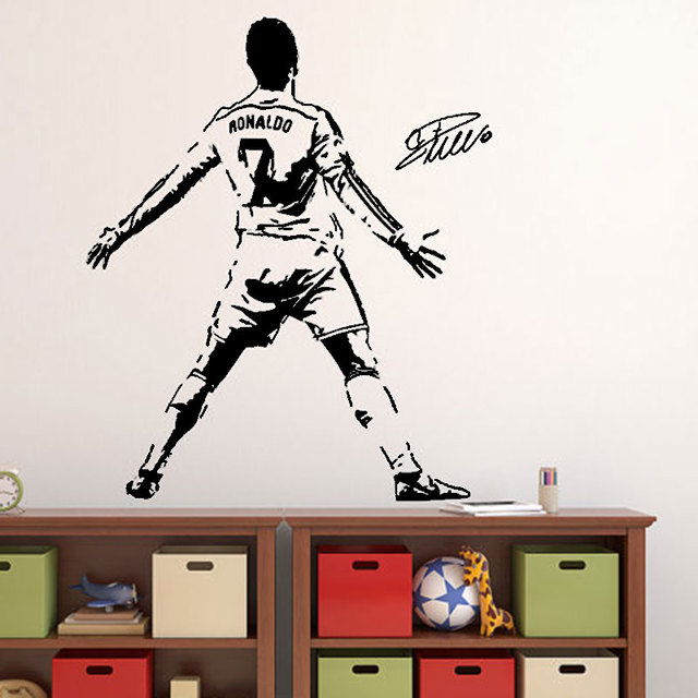 Merveilleux Cristiano Ronaldo Wall Decal Sticker Football Soccer Player Portugal  Creative Vinyl Home Decal Sports Wall Stickers