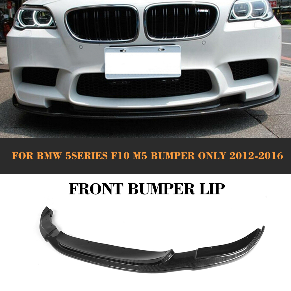 Carbon Fiber Auto Racing Car Front Bumper Diffuser Lip Spoiler for BMW F10 M5 4 Door Only 2012 2013 2014 2015 2016 HM style цена