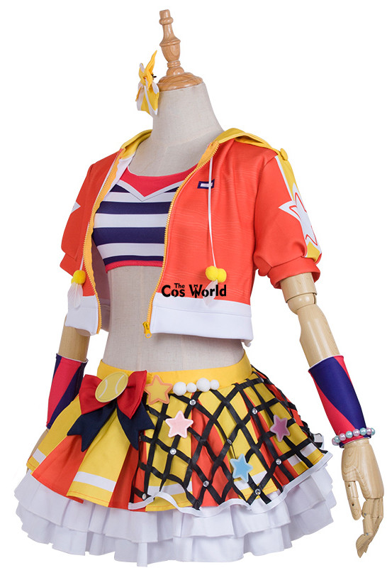 Love Live School Idol Project Kousaka Honoka Tennis Boob Tube Tops Hoody Coat Dress Uniform Outfit Anime Cosplay Costumes