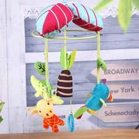נייד עריסת קריקטורה תינוק צעצועי רעשנים פעמון המיטה מוסיקלי בובות תלויה שינה מיטת תינוק צבעוני חמוד רכב עגלת אבזרים