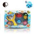 6 шт./лот Игрушки Для Купания в Barthroom Дети Водные Игрушки для Детей мягкие Детские Игрушки для Мальчиков Девочек Резиновые Рыбы, Морского Зверя juguetes