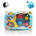 6 pçs/lote Brinquedos para o Banho na Barthroom Crianças Brinquedos De Água para As Crianças Brinquedos macios Do Bebê para Meninos Meninas de Borracha Peixe Animal de Mar juguetes