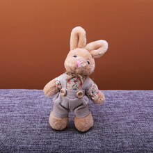 Children Cute Rabbit Keychain ChilAnimal Doll Cartoon Plush Toy Rabbit Key Chain For Baby Girl Toy Birthday Party Jewelry Gifts(China)
