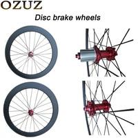 OZUZ Road Cyclocross Disc Brake Hubs Carbon wheelset 38/50/88 mm Clincher Tubular Wheels Bike Bicycle road Disc Wheelset 700C