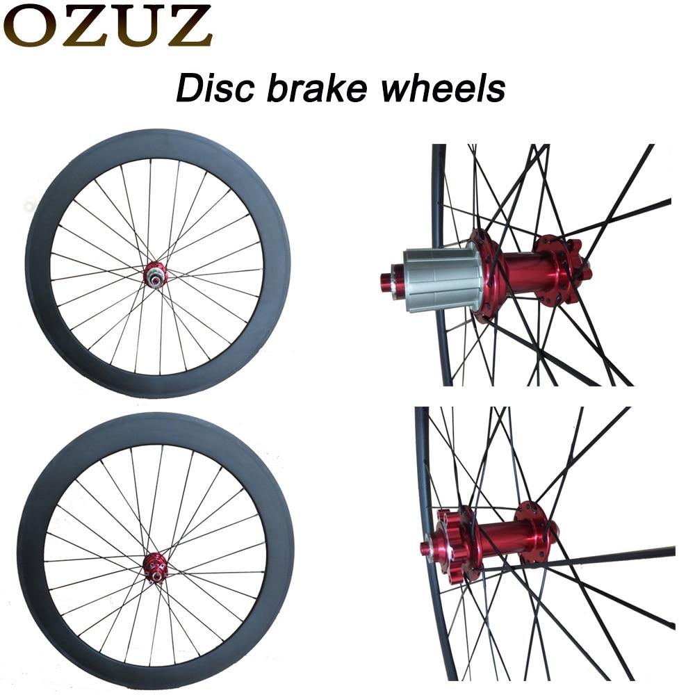 OZUZ route Cyclocross moyeux de frein à disque carbone paire de roues 38/50/88mm roues tubulaires pneu vélo route disque roues 700C