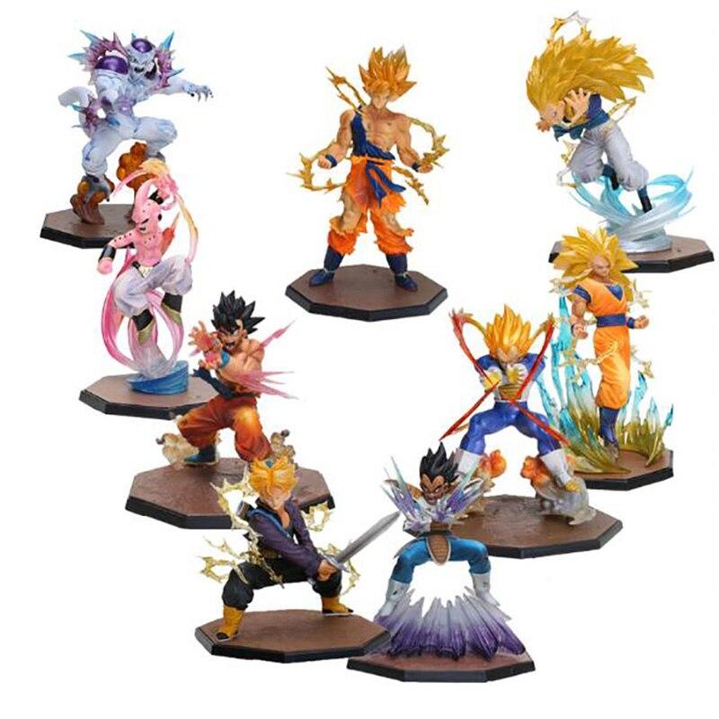 Dragon Ball Z Super Saiyan Goku Son Gokou Boxed KameHameHa Trunks vegeta buu Gotenks PVC Action Figure Model Toy Gift стоимость