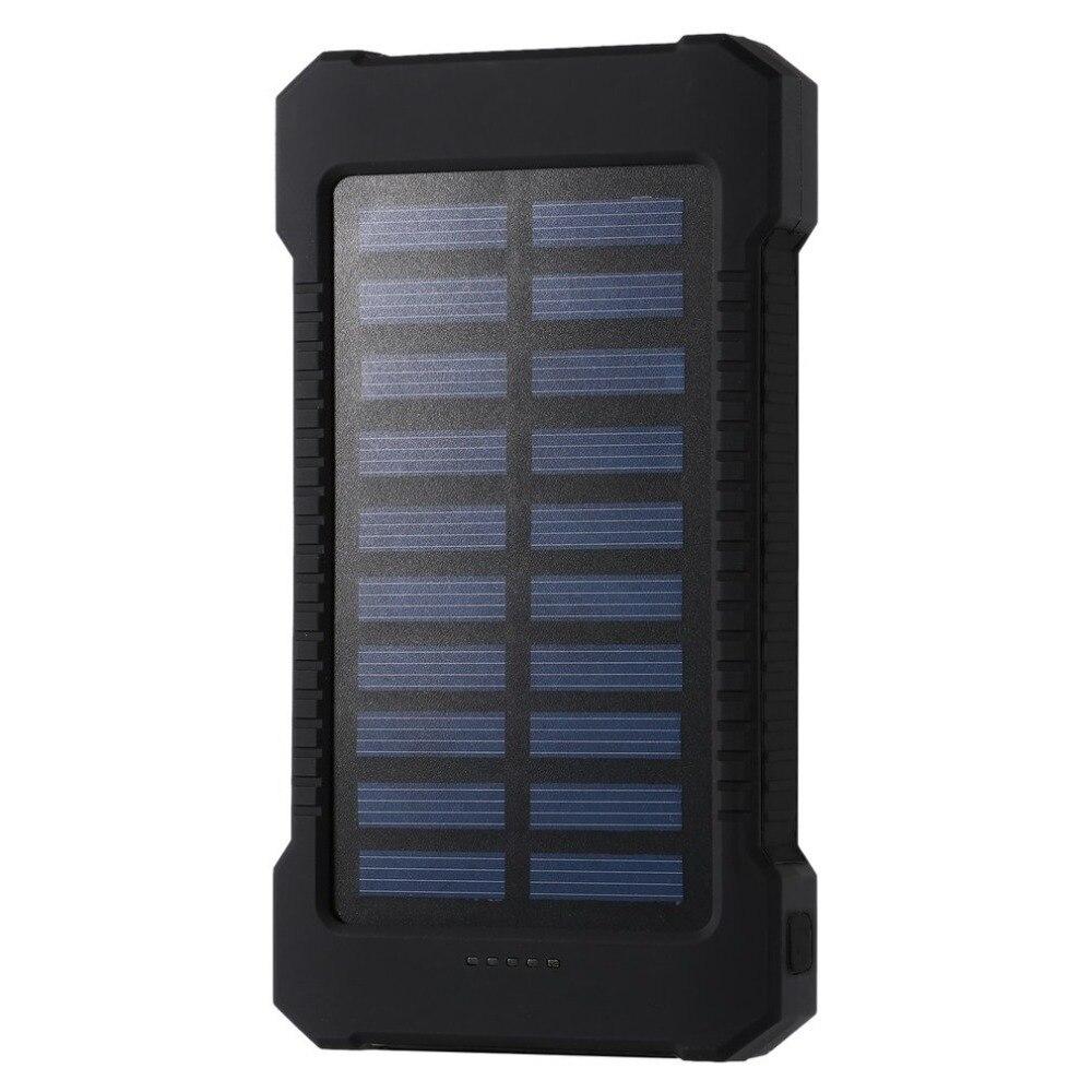 Batería Solar portátil 30000 mAh impermeable batería externa de respaldo Solar cargador de batería de teléfono banco de energía LED