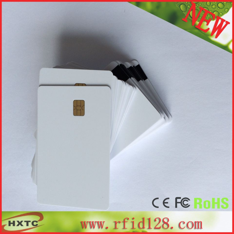 20PCS/Lot   2 in 1  Composite Contact  Blank/White Memory Smart  IC sle4442 Chip Card With Hi-Co Magnetic Stripe Free Shipping 20pcs lot contact sle4428 chip gold card with magnetic stripe pvc blank smart card purchase card 1k memory free shipping