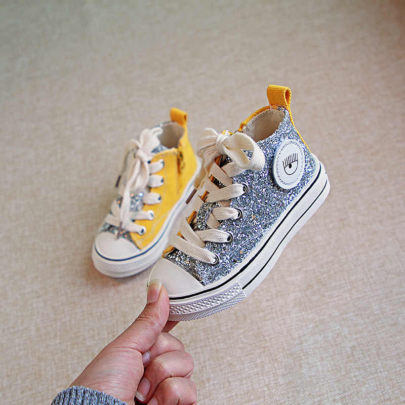 High-top Canvas Shoes Sneakers Trainer Children Boys Girls Kids Unisex NEW