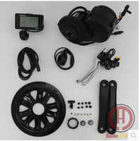 free shipping Bafang BBS02 48V 750W 8fun Brushless Geared Mid-Drive Motor Conversion Kits  integrated Controller and LCD Display