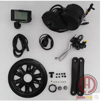 free shipping Bafang BBS02 48V 750W 8fun Brushless Geared Mid Drive Motor Conversion Kits integrated Controller and LCD Display
