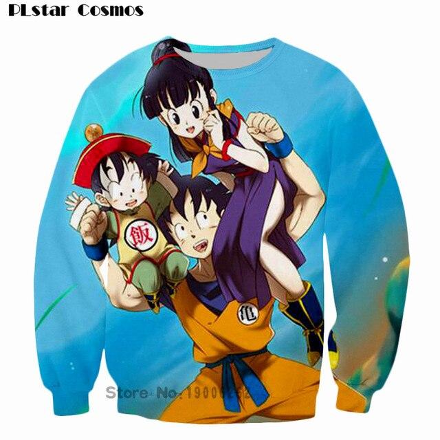 Anime clásico Dragon Ball Z sudadera manga larga hombres Hipster 3D  sudadera Super Saiyan Goku crewneck b3f4a0e3d9c8