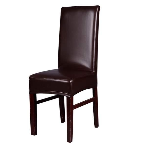 Ikea Eetkamer Stoelhoezen.Kantoor Stoel Cover Spandex Stoelhoezen Eetkamer Elastische Koffie