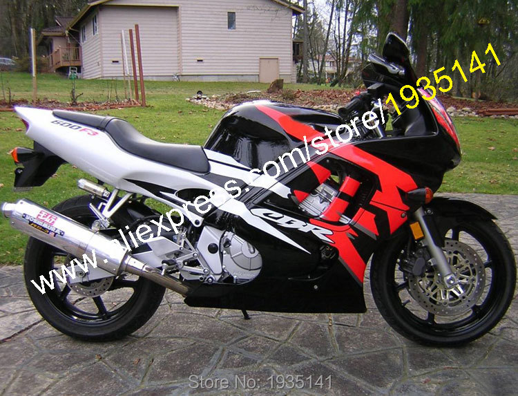 Hot Sales,For Honda CBR600 F3 1997 1998 Parts CBR600F3 97 98 CBR 600 Red Black White Motorbike Fairing Kit (Injection molding)