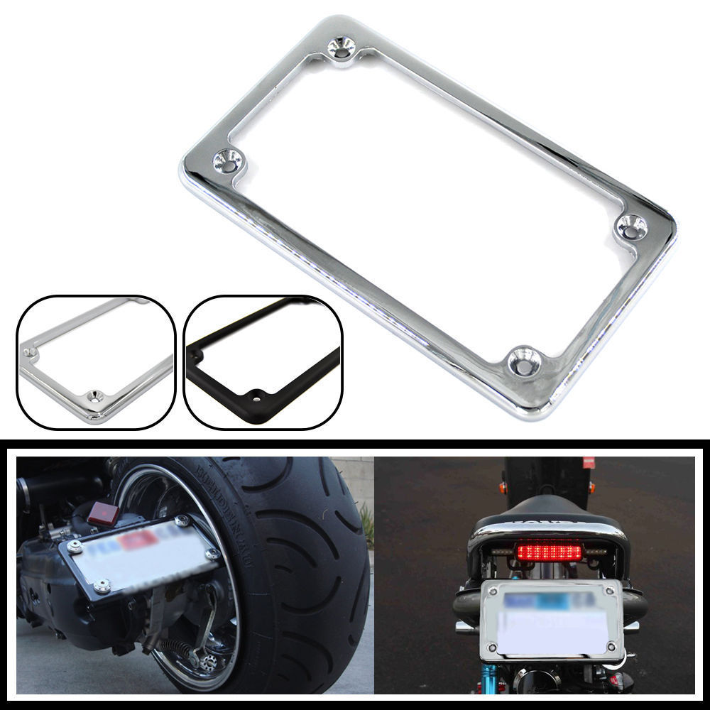 BJMOTO Universal 4\'\' X 7\'\'Aluminum Motorcycle Number Plate Frame ...