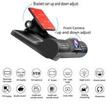 Best Buy 4.0″ Car DVR Camera FHD 720P Dual Lens with Rear view Registrar three camera Night vision car dvrs Video dashcam Camcorder