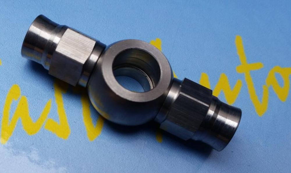 """Stainless Steel 10.2mm 3//8/"""" Eye Banjo To Double AN-3 Hose End Brake Fittings"""